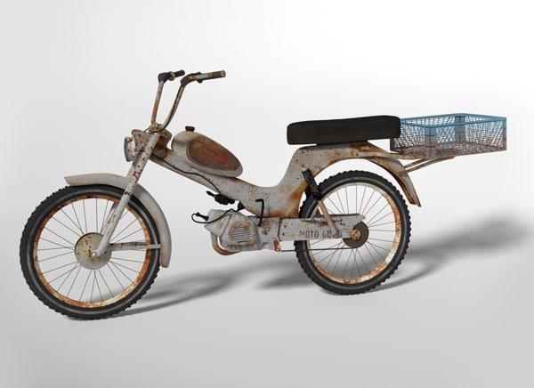 bike rusty old 3d 3ds