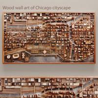 wood wall obj
