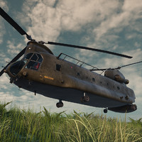 ch-47 chinook 3d x
