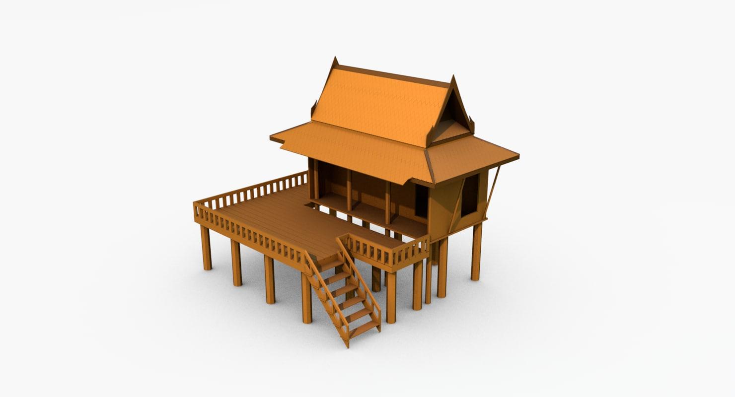 thai culture house 3ds free