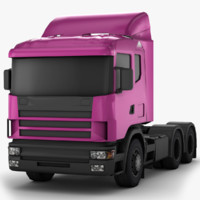 c4d scania - 9520 polygons