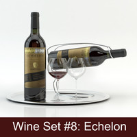 alcohol set 8: echelon 3d model