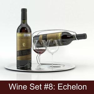 alcohol set 8: echelon 3d model