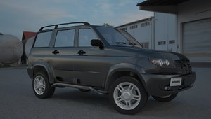 3d russian suv uaz patriot