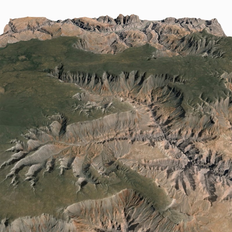 obj grand canyon terrain