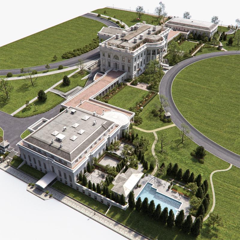 3d washington dc white house model