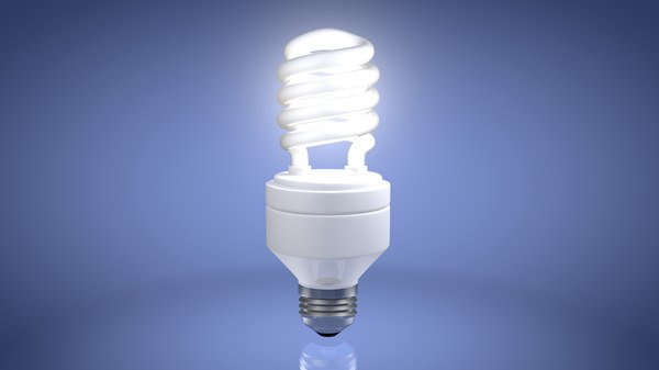 energy efficient light bulb 3d 3ds