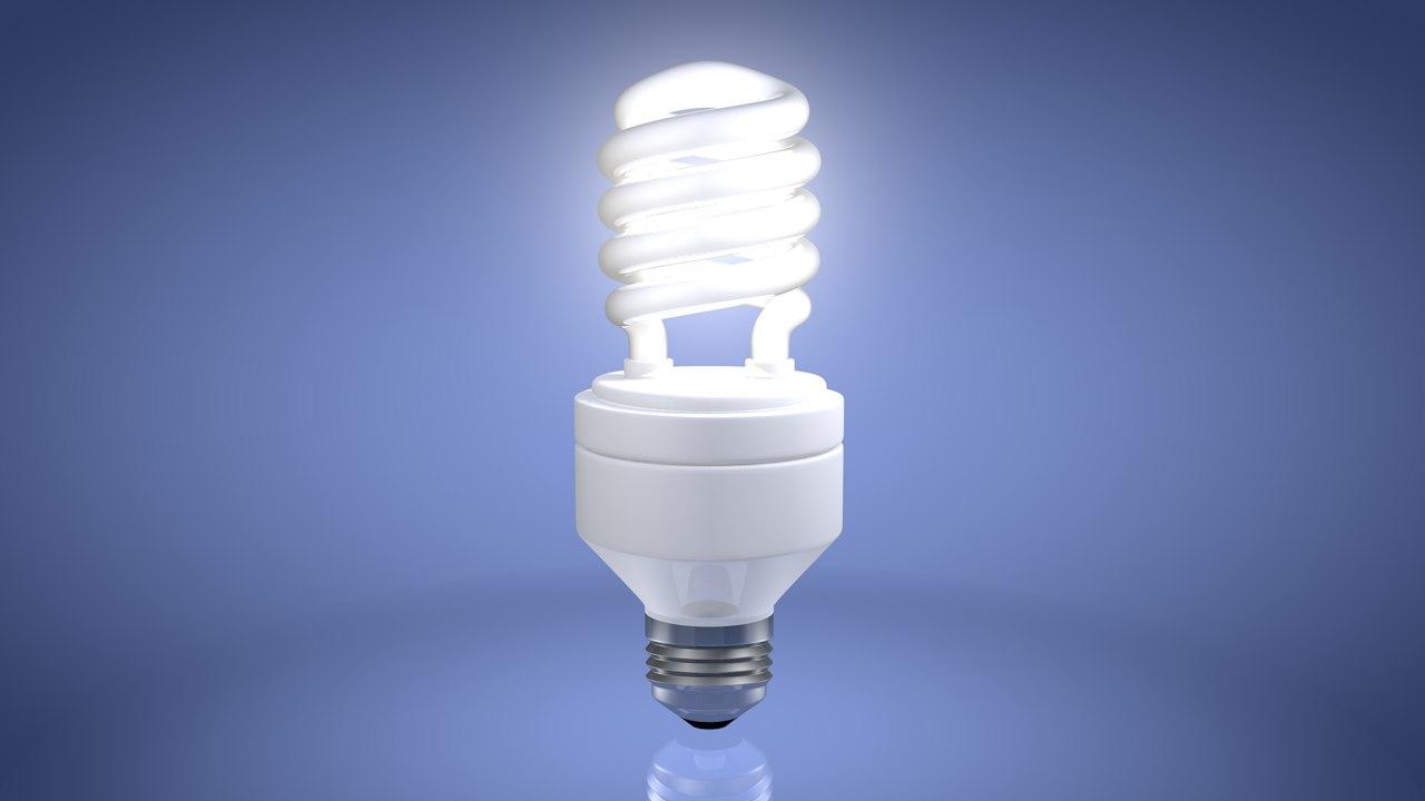 energy efficient light bulb 3d 3ds