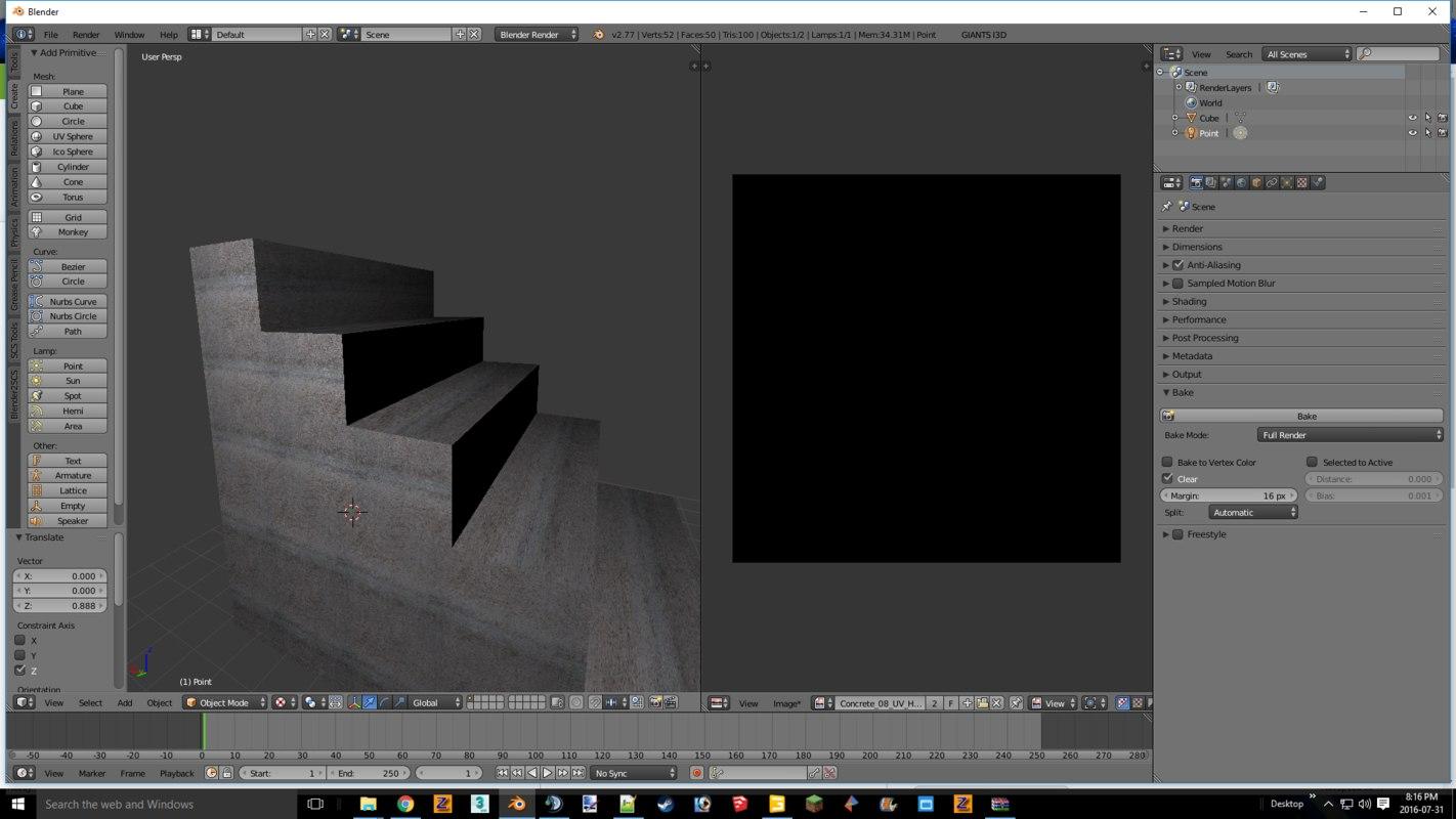 concrete steps 3d model