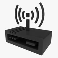 icon modem 3d obj