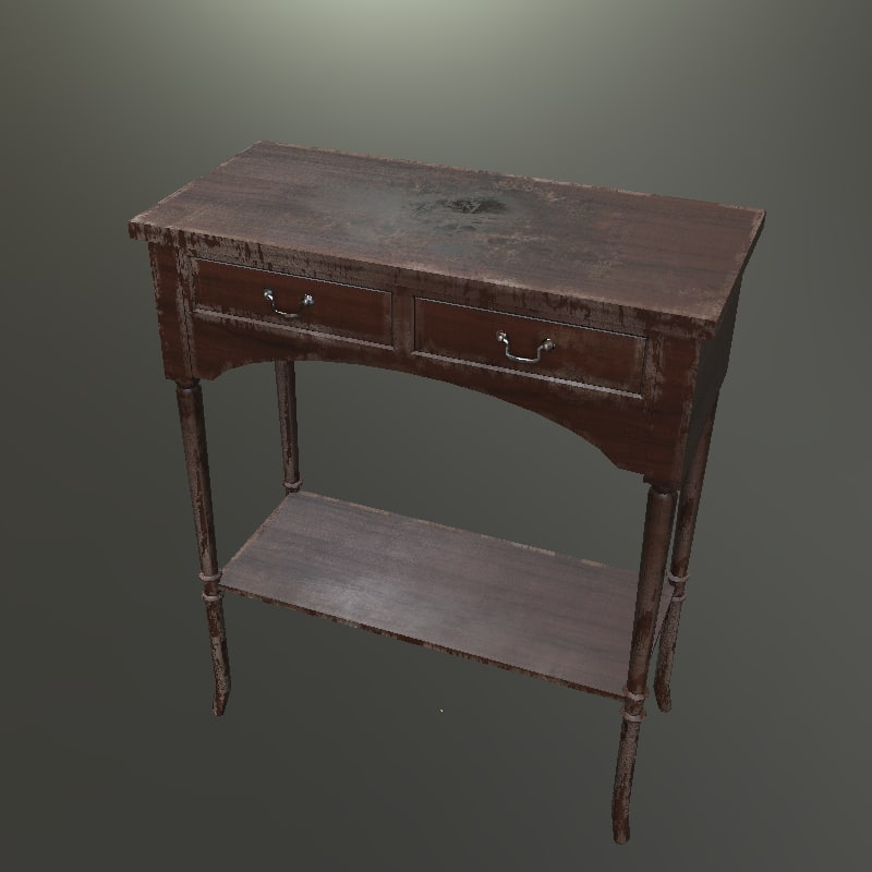 antique old table x