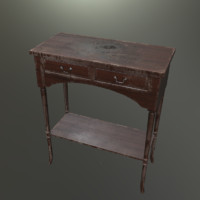 Table antique old A