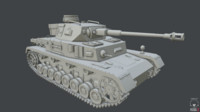 3d panzer iv tank model