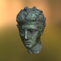 3d model ancient greek roman statue