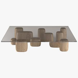 coffee table ishi 3d model