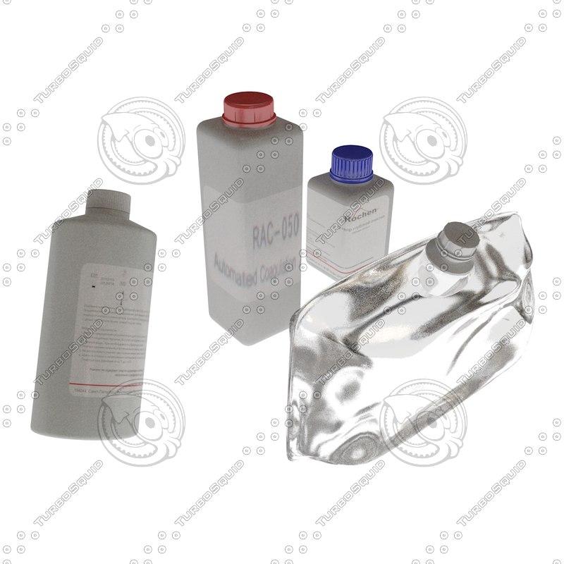 3d medical bottles model