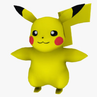 3d pikachu games happy model