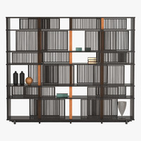 3d model bookcase lloyd poltrona frau