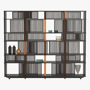 3d model bookcase lloyd poltrona frau