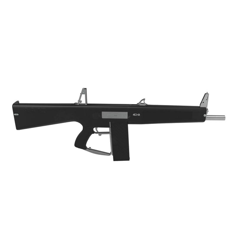 3d model auto assault shotgun aa