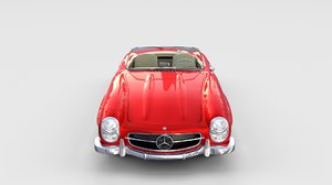 3d mercedes 300sl roadster modeled