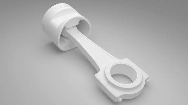 piston connecting rod 3d obj