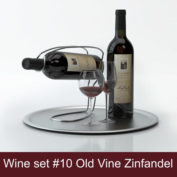 Tray and wine holder set