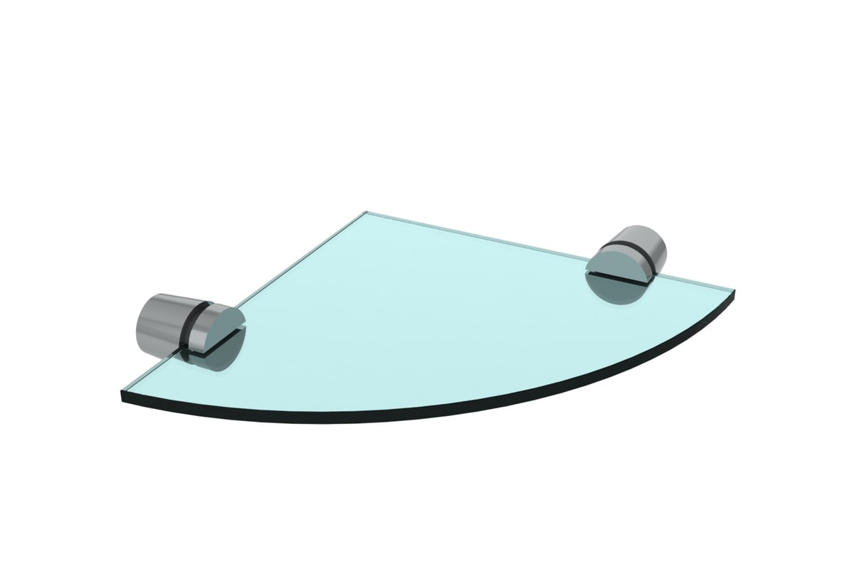 glass shelf corner 3d 3ds