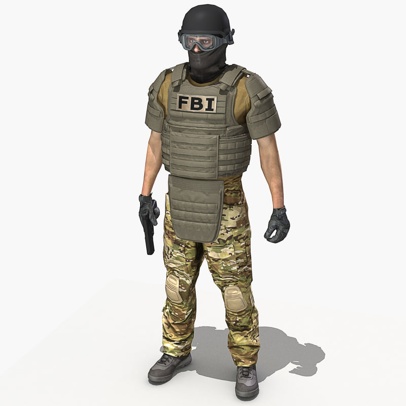 3d model crye multicam uniform Fbi Combat Uniform