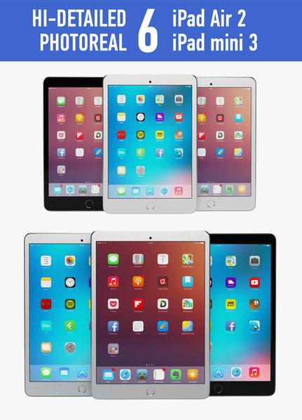 apple ipad air 2 3d fbx