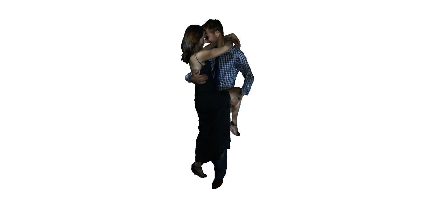 3d obj couple dancing