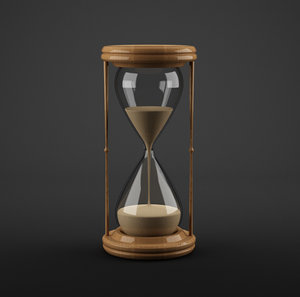 3d model sand timer