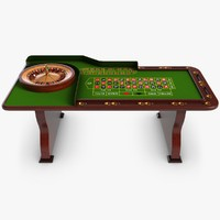 casino table 3d model