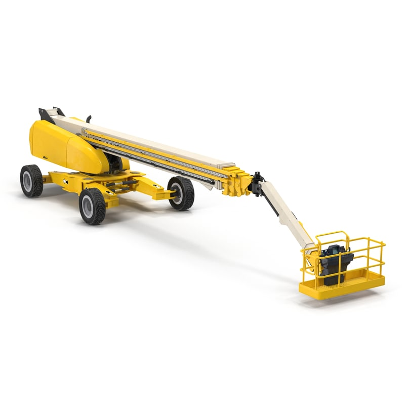 3d model telescopic boom generic 4