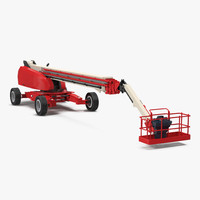 3d model of telescopic boom generic 4