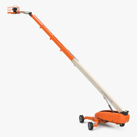 3d model telescopic boom lift generic
