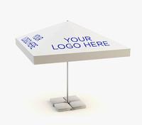 3d model of parasol branding
