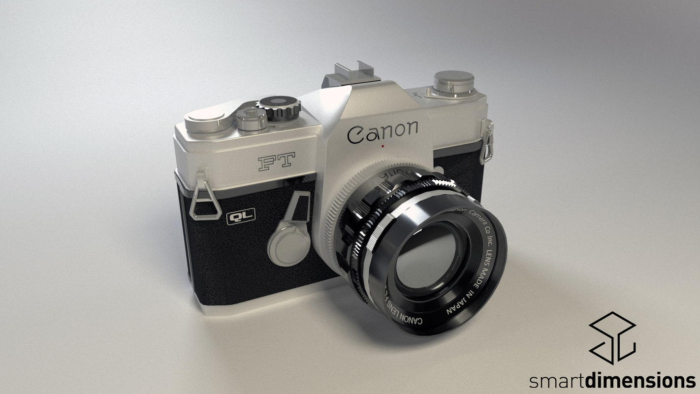 canon camera ft ql 3d model