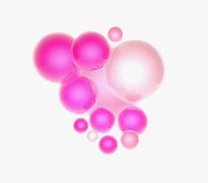 pink balls c4d