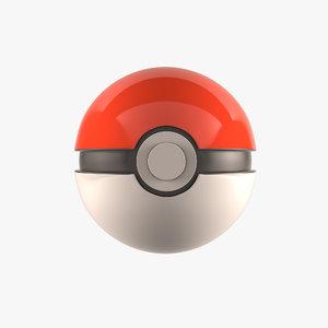 pokemon ball 3d model