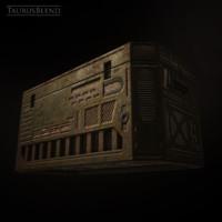 sci-fi crate obj free