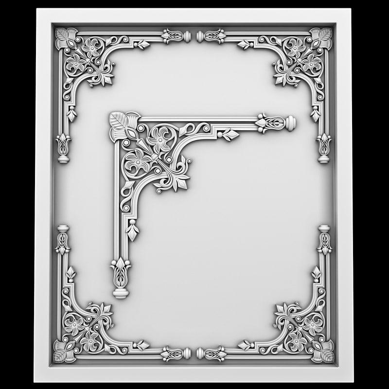 corner element 3d max