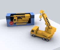 compact mobile crane rigged 3d model