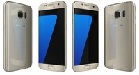 3d samsung galaxy s7 gold model