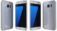 3d samsung galaxy s7 silver model