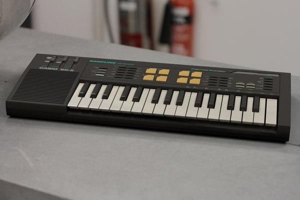 3d casio sk-5 sampling keyboard model