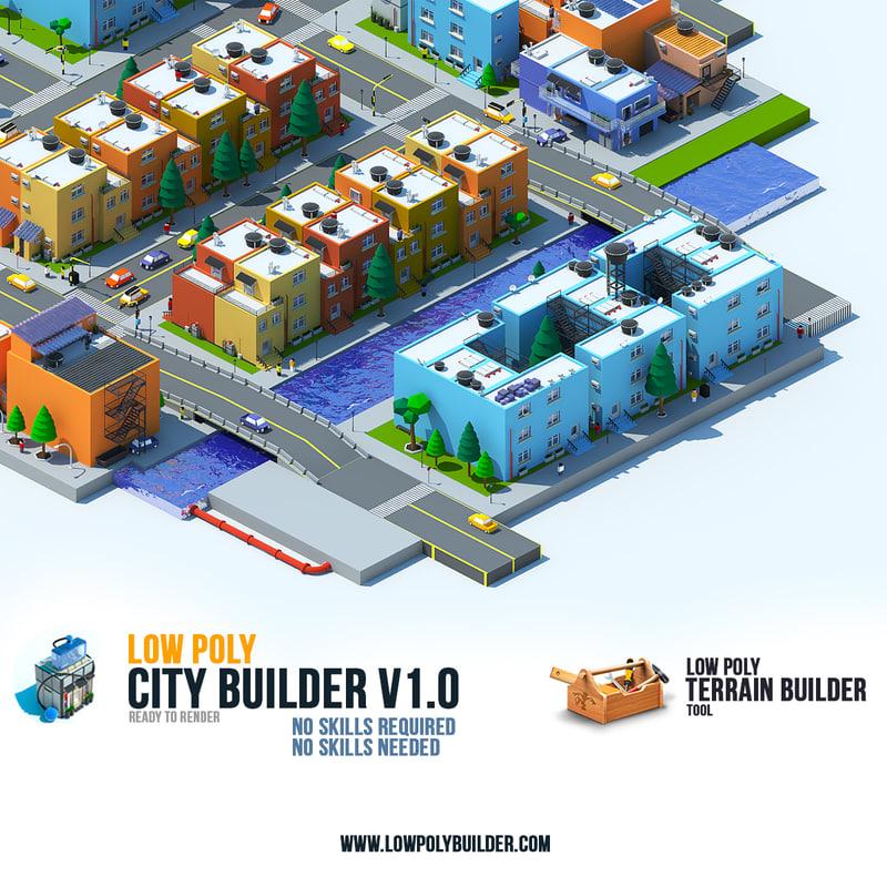 3d city builder model