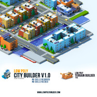 low poly city builder standar edition