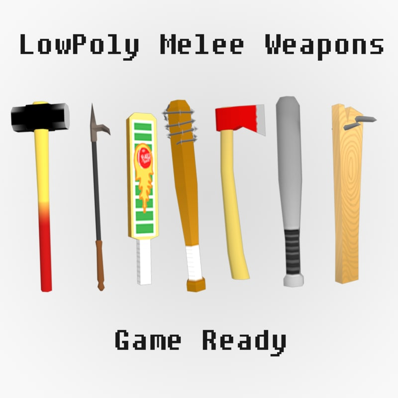 melee weapons games 3d model