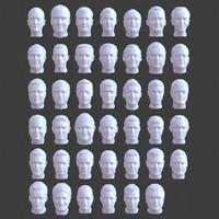 41 male head 3d model